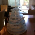 exhibidor de Wedding Cupcakes