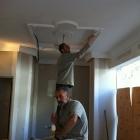 falso techo escayola artesanado, pinturas