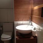 ático bajo  cubierta baño suite lavabo